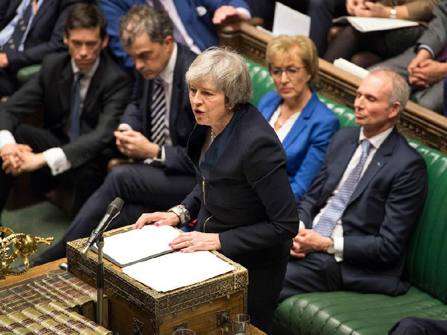英国首相脱欧方案第三次被否.jpg