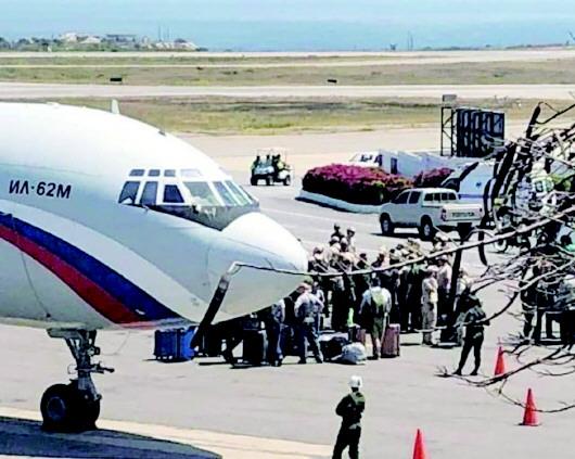 抵达委内瑞拉的俄方军事人员.jpg