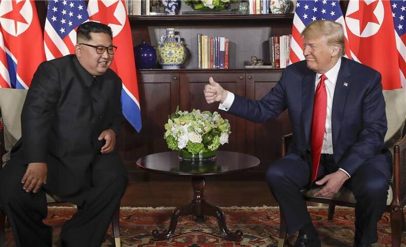 """特朗普称谈判顺利遭朝鲜""""打脸"""".jpg"""