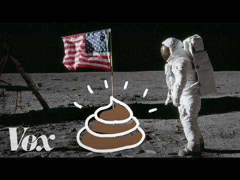 登月过程中的排泄物
