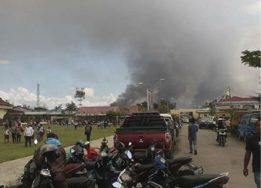 印尼发生暴力抗议活动.jpg
