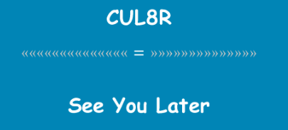 EZ、CUL8R這些縮寫是啥意思