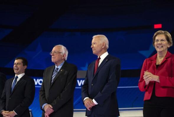 美國民主黨總統競選人進行電視辯論.jpg