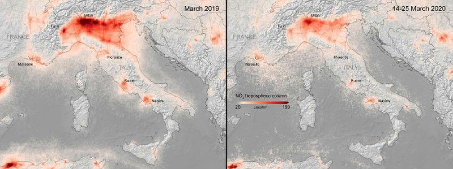 衛星照片顯示,全歐洲空氣污染驟降.jpg