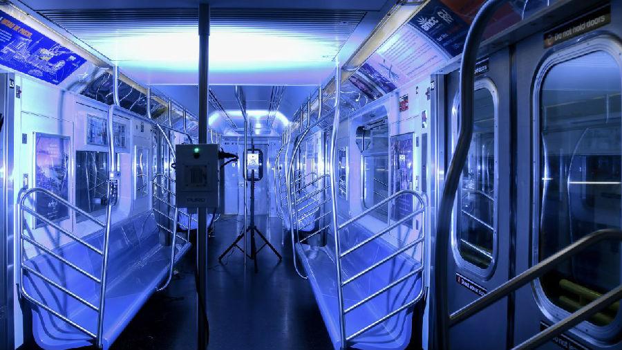 纽约市将用紫外线灯对公交地铁进行消杀.jpg