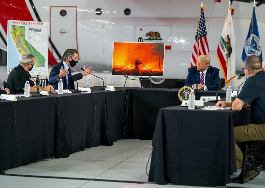 特朗普拒绝承认气候变化对森林大火造成影响