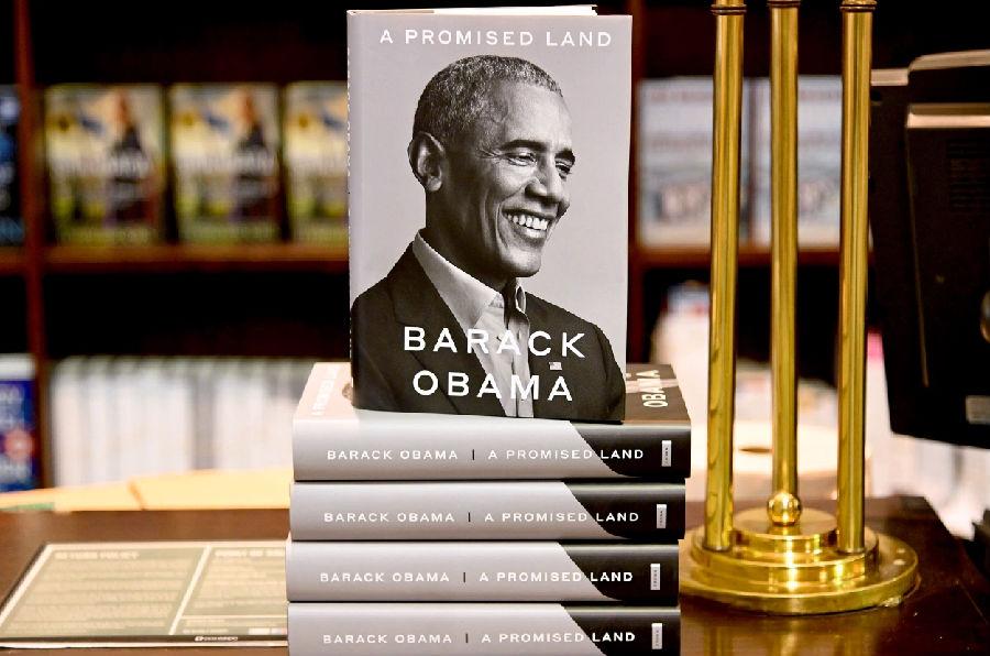 奧巴馬回憶錄《應許之地》剛出版就成了暢銷書.jpg