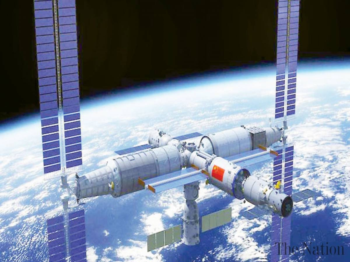 The core module of the space station will be launched in the next spring .jpg