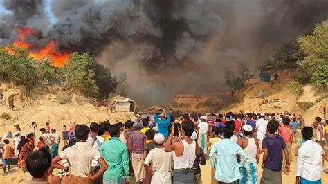孟加拉國羅興亞人營地發生火災.jpg